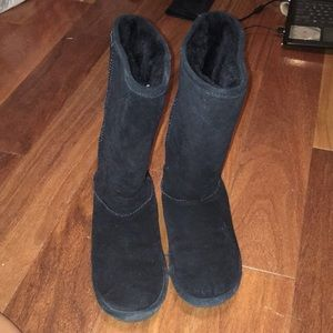black fur lined boots